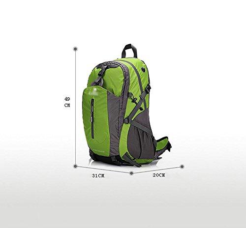 HWLXBB Outdoor Bergsteigen Tasche 40L Wasserdichte Camping Tourismus Bergsteigen Rucksack Männer und Frauen Walking Bergsteigen Tasche ( Farbe : 2* )