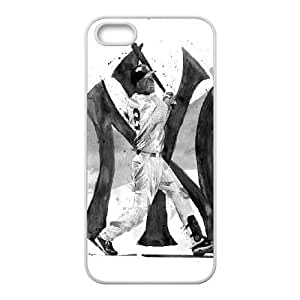 Iphone 5,5S 2D Customized Phone Back Case with Derek Jeter Image