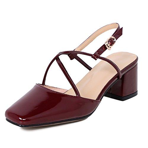 Nine Seven Heels - Zapatos de vestir de Piel para mujer burgundy-patent