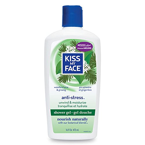 Kiss My Face Essential Oils Body Lotion - Kiss My Face Antistress Shower and Bath Gel Woodland Pine and Ginseng -- 16 fl oz