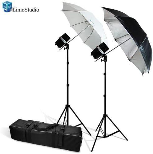2 Photo Reflective Umbrellas AGG919V2 2 Studio Flash//Strobe LimoStudio 320 Watt Photo Studio Monolight Strobe//Flash Umbrella Lighting Kit Carrying Case