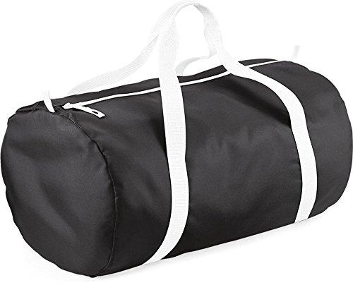 White BagBase Bag Pack Medium Barrel Black Away Unisex's BG150BKWH 77wqUS