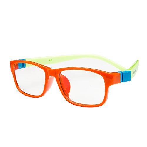 SPEKTRUM KIDS COMPUTER GLASSES: Anti Blue Light Glasses for Children 4+. Anti-reflective, UV and Computer/TV Electromagnetic Radiation Protection, Anti Fog, Scratch Resistant (Action - Orange)