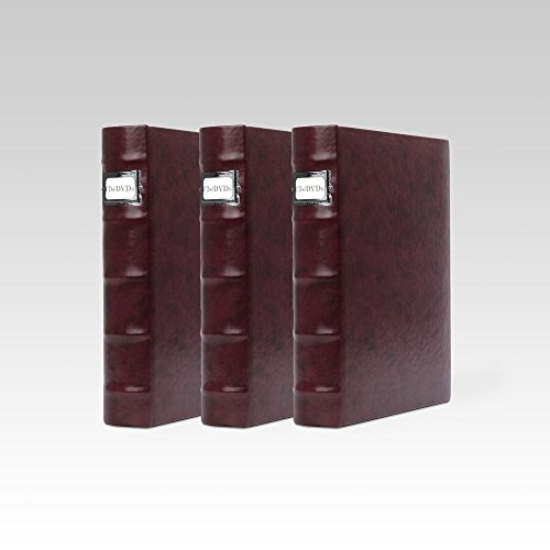 Bellagio-Italia Corona Vino (Purple) DVD Storage Binder Set - Stores Up to 144 DVDs, CDs, or Blu-Rays - Stores DVD Cover Art - Acid-Free Sheets by Bellagio-Italia