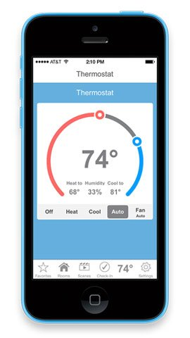 Insteon 2441TH Smart Thermostat, Works with Alexa via Bridge, Uses Superior Dual-Mesh Wireless Technology for Unbeatable Reliability - Better than Wi-Fi, Zigbee and Z-Wave by Insteon (Image #3)
