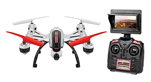 World Tech Toys Elite Mini Orion 2.4GHz 4.5CH LCD Live-View Camera RC Drone, White/Black/Blue/Red/Glow, 12 x 12 x 4 (Mini Orion Live Feed Lcd Screen Drone)