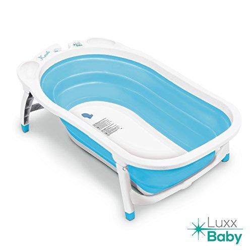 Luxx Baby BF1 Folding Bath Tub by Karibu w/Non-Slip Mat (Light Blue) by LuxxBaby