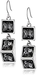 "Kenneth Cole New York ""On The Rocks"" Geometric Faceted Bead Drop Earrings"