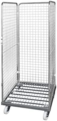 Drahtgitterbeh/älter mit Kunststoff-Rollplatte Nutzh/öhe 1585 mm 3-seitig Transportroller Materialcontainer Transportcontainer Transportroller Materialcontainer Transportcontainer E.S.B