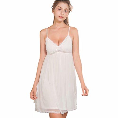 (Flaydigo Nightgowns Women's Sleeveless Victorian Night Gown Sleepwear Cotton)