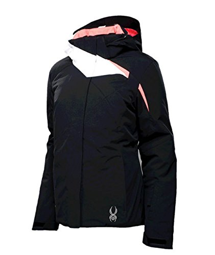 Spyder Women's Amp Relaxed Fit Jacket Black/White/Bryte Pink Size 8 -