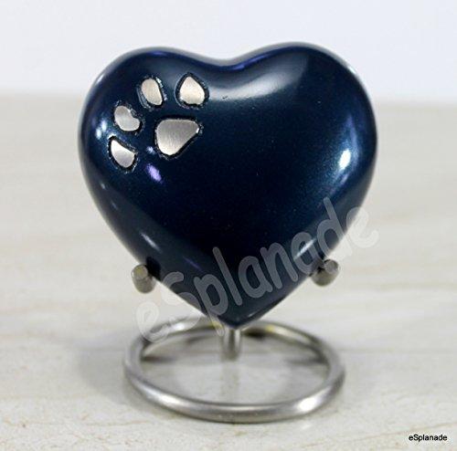 eSplanade Heart Shaped Pet Cremation urn Memorial Container Jar Pot   Metal Urns   Burial Urns   Memorial Keepsake   Urns for Pets   Brass urns.