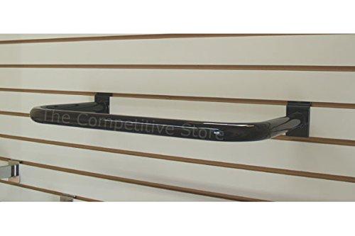 EZ-Mannequins U-Shape Black SLATWALL HANGRAILS Round TUBING FITS All Slat Panels