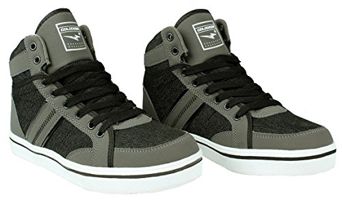 Uomo Leggero Stringato Casual Sneaker Campus Fashion Grey_8647