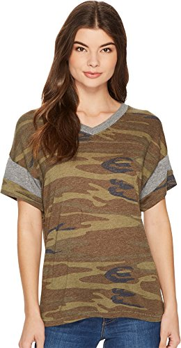 - Alternative Women's Powder Puff Tee Camo/Eco Grey Medium