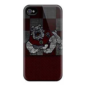 Ultra Slim Fit Hard DaMMeke Case Cover Specially Made For Iphone 4/4s- Fresno State Bulldog