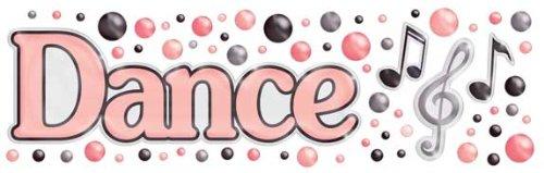 (Fiskars Rain Dots Dimensional Epoxy Stickers, Dance Title)