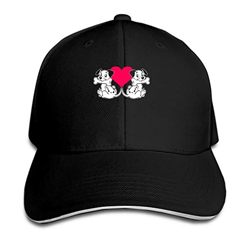 Customized Unisex Love Dalmatians S Trucker Baseball Cap Adjustable Peaked Sandwich Hat ()