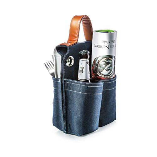 Price comparison product image Donkey Products Bike Bag Picnic for 2,  Saddlebag,  Saddle Bag,  Denim / Artificial Leather,  300749