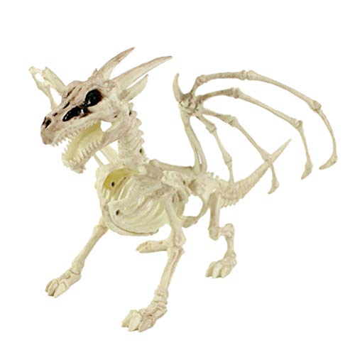 (BESTOYARD Halloween Animal Skeleton Props Skeleton Dragon Halloween Decorations Creepy Decor Party)