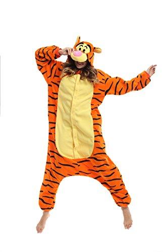 [Qute] Tigger Kigurumi Pajamas- Unisex Costume Animal &