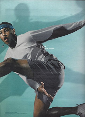 PRINT AD With NBA Carmelo Anthony For 2003 Nike Products