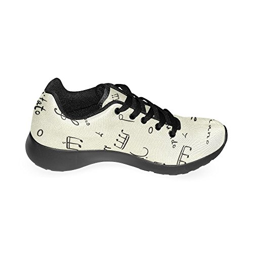 InterestPrint Sneakers US 15 Shoes Casual 6 Lightweight Note Musical Athletic Women's Size Pattern Running zOvzXr