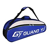 6 Racquet Tennis Bag Single Shoulder Badminton Squash Racket Bag Large Gym Equipment Bag Racquetball Pack Sport Duffel Bag Carry Bag with Shoes Storage,Unisex Design for Men, Women, Youth and Adults