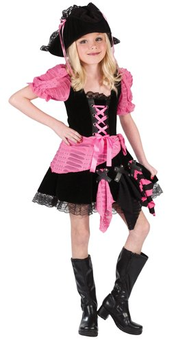 (Pink Punk Pirate Kids Costume)