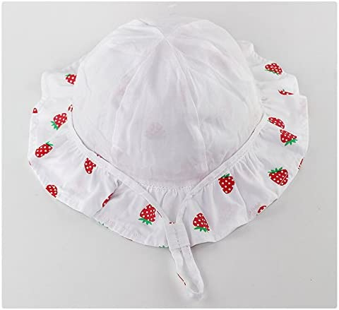 YueLian Little Girls Baby Strawberry Cotton Summer Spring Princess Bucket Hats with String