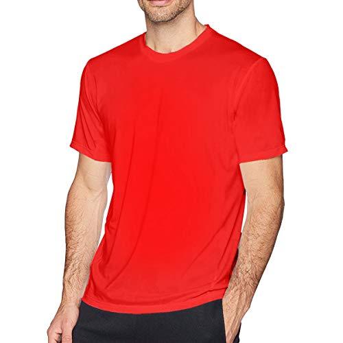 Sintee Piano Keys Men's Short Sleeves Casual T-Shirt L Red ()