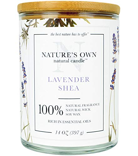 - Nature's Own Natural Candle-Lavender Shea