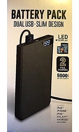 Shen Zhen DNS 16wms126-blk Dual USB Slim Design Battery Pack