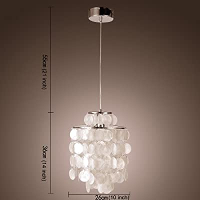LightInTheBox Mini White Shell Pendant Chandelier (Chrome Finish) [Kitchen]