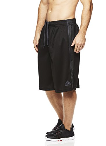 Above The Rim Men's Basketball Short Performance Mesh Athletic Workout Gym Shorts - 2K - Black, XX-Large