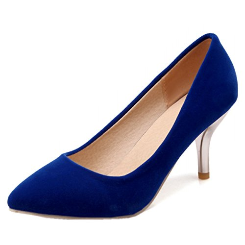 Heels Strap Suede Toe Blue High Sandals Open Womens Rongzhi Party Ankle Dress Buckle Heeled Shoes Pumps p0Rvtq
