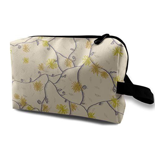 Cosmetic bag for purse,Strawflower Feedsack Bee Dance_1954,Oxford cloth Colourful Bag Mini Travel