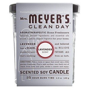 Mrs. Meyer's Clean Day Scented Soy Candle, Lavender, Candl
