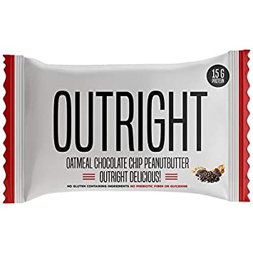 Outright Bar – Whole Food Protein Bar – 12 Pack – MTS Nutrition – Peanut Butter Chocolate Chip