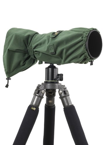 LensCoat RainCoat RS for Camera and Lens Cover sleeve protection, Large (Green) LCRSLGR