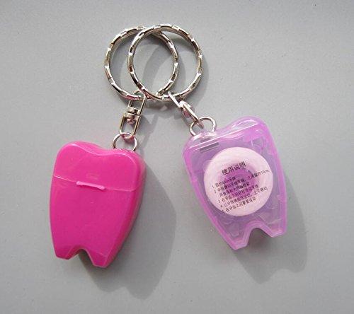 Amazon.com: Juego de 10 hilo dental dientes llavero de ...