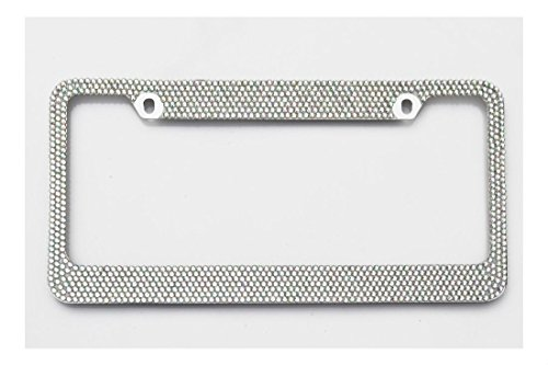Swarovski Clear Crystals license plate frame 7 rows !!!Bling frame