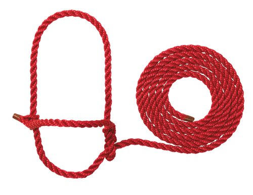 Halter Poly Rope - Weaver Leather Rope Cow Halter, Red