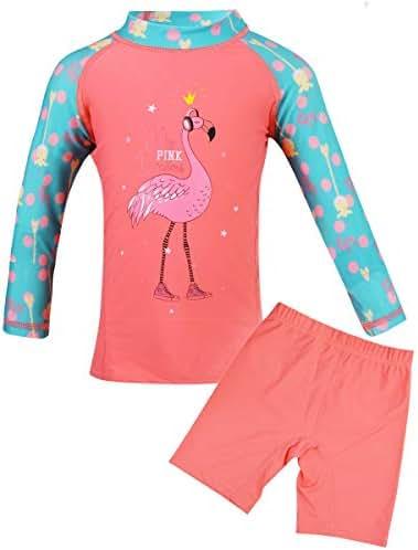 Girls Two-Piece Swimsuit Set UPF 50+ Sun Protection Girl Tankini Swimsuit Swimwear