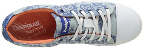 Desigual Damen Supper Happy Decoflowers Sneakers Blau (blue 5098)