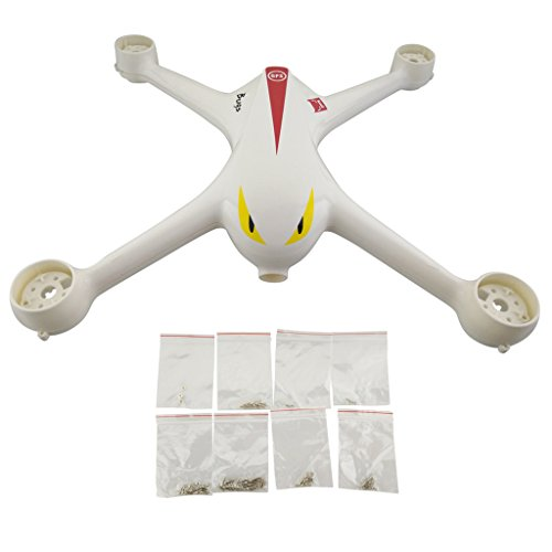 sea jump Accessories for MJX B2C B2W Bugs 2 D80 F18 Brushless Quadcopter Body Accessories Drone casing/Chassis+ Screw,White by sea jump