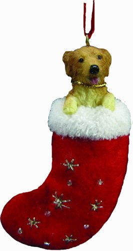 Stockings Golden Christmas Retriever (Golden Retriever Christmas Stocking Ornament with