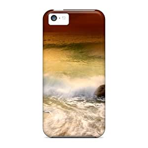 Durable Defender Case For ipod touch5 Tpu Cover(golden Sea)