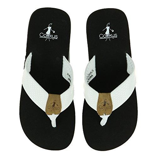 Zapatos De Mujer Corkys Footwear Secret Flip Flop Sandal Blanco