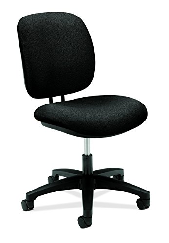 HON ComforTask Task Chair - Swivel Computer Chair for Office Desk, Black (H5901) by HON